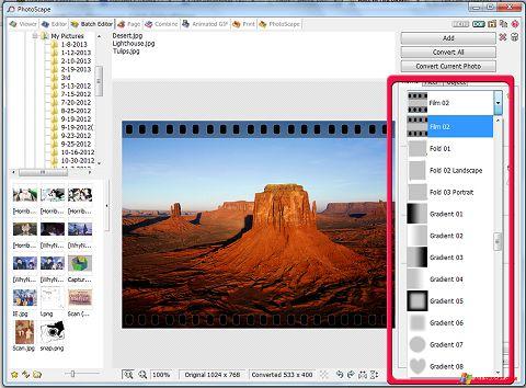 Skærmbillede PhotoScape Windows XP