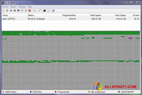 Skærmbillede UltraDefrag Windows XP