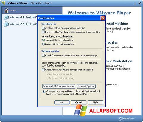Skærmbillede VMware Player Windows XP
