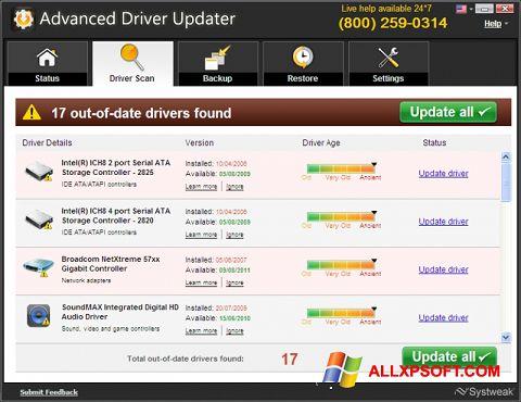 Skærmbillede Advanced Driver Updater Windows XP