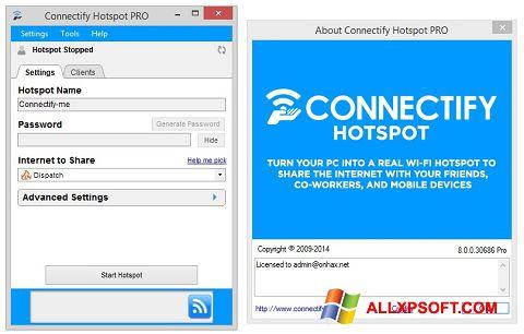 Skærmbillede Connectify Hotspot Windows XP