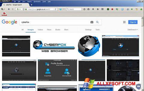 Skærmbillede Cyberfox Windows XP