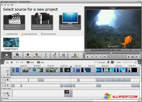 Skærmbillede AVS Video Editor Windows XP