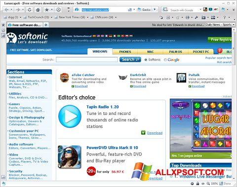 Skærmbillede Lunascape Windows XP