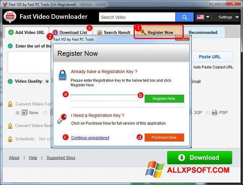 Skærmbillede Fast Video Downloader Windows XP