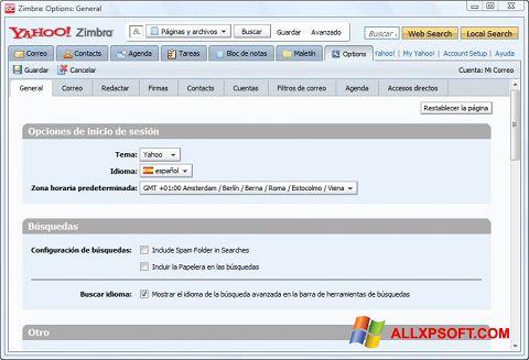 Skærmbillede Zimbra Desktop Windows XP