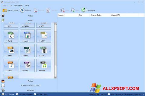 Skærmbillede Format Factory Windows XP