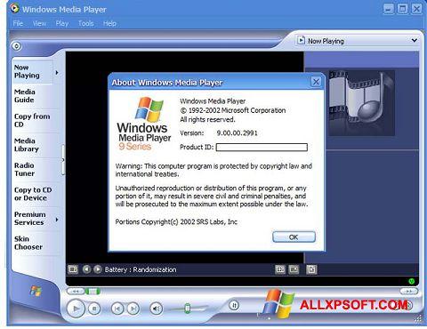 Skærmbillede Windows Media Player Windows XP