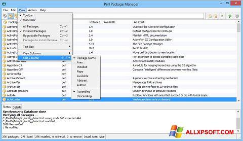 Skærmbillede ActivePerl Windows XP