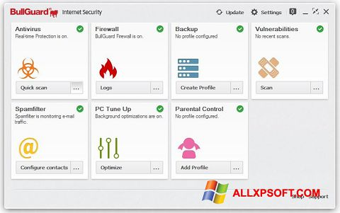 Skærmbillede BullGuard Windows XP