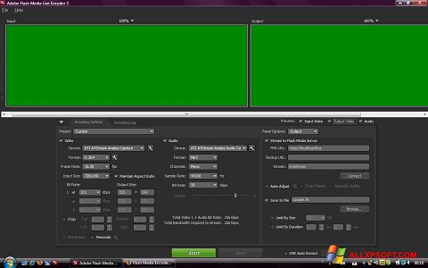 Skærmbillede Adobe Media Encoder Windows XP