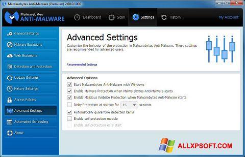 Skærmbillede Malwarebytes Anti-Malware Windows XP
