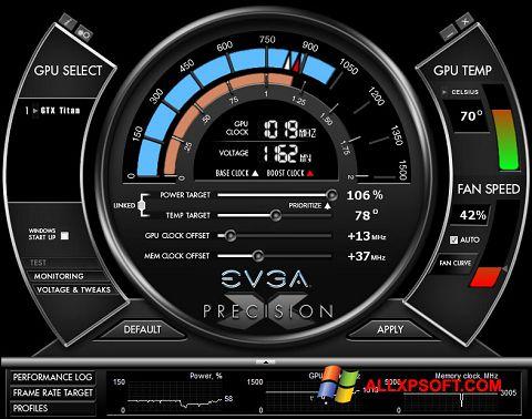 Skærmbillede EVGA Precision X Windows XP