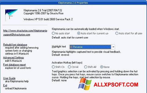 Skærmbillede Kleptomania Windows XP