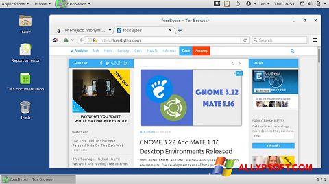 Skærmbillede Tor Browser Windows XP