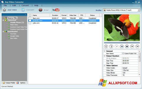 Skærmbillede Any Video Converter Windows XP