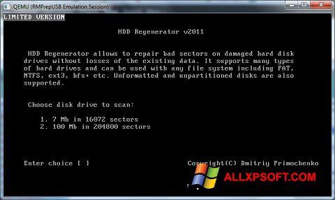 Skærmbillede HDD Regenerator Windows XP