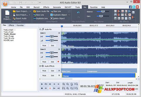 Skærmbillede AVS Audio Editor Windows XP