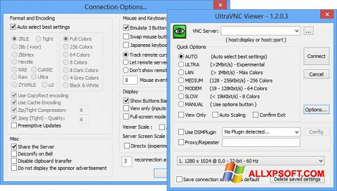 Skærmbillede UltraVNC Windows XP