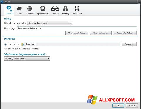 Skærmbillede Comodo IceDragon Windows XP