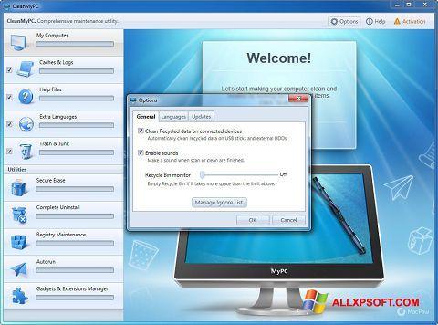 Skærmbillede CleanMyPC Windows XP