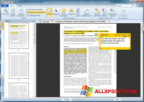 Skærmbillede Nitro PDF Reader Windows XP