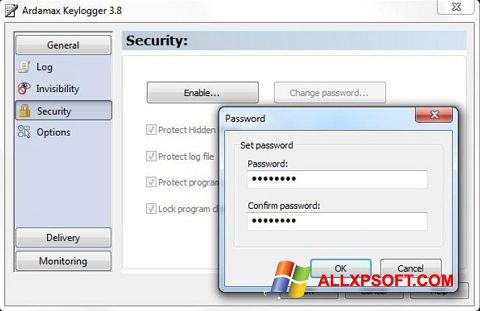 Skærmbillede Ardamax Keylogger Windows XP