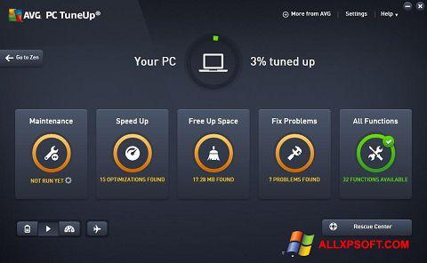 Skærmbillede AVG PC Tuneup Windows XP
