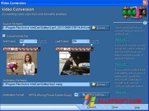 Skærmbillede Active WebCam Windows XP