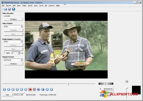 Skærmbillede Avidemux Windows XP