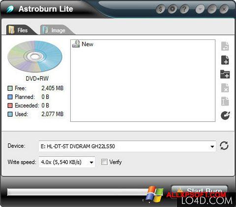 Skærmbillede Astroburn Lite Windows XP