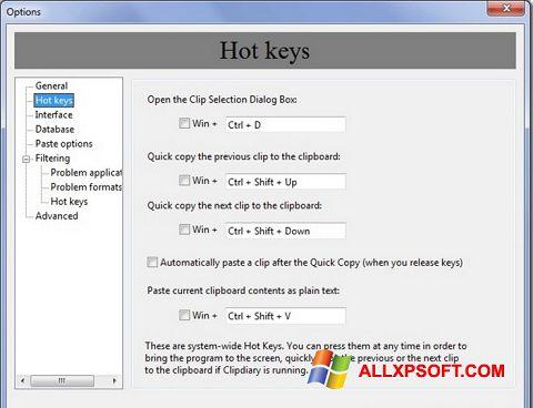 Skærmbillede Clipdiary Windows XP