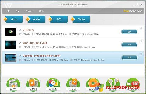 Skærmbillede Freemake Video Converter Windows XP