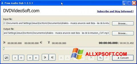 Skærmbillede Free Audio Dub Windows XP