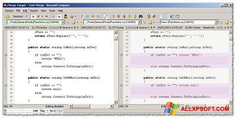 Skærmbillede Beyond Compare Windows XP