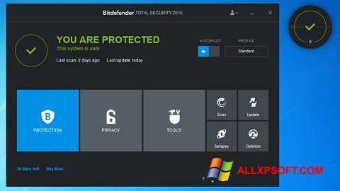 Skærmbillede Bitdefender Windows XP