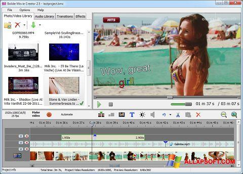 Skærmbillede Bolide Movie Creator Windows XP
