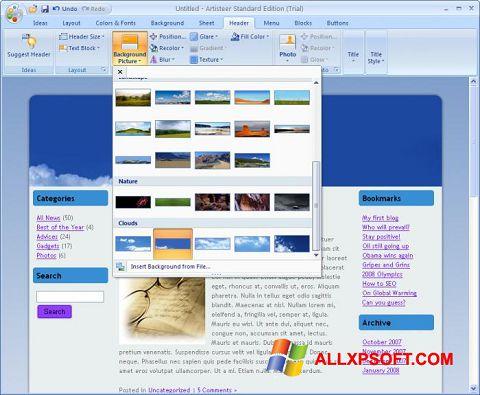 Skærmbillede Artisteer Windows XP