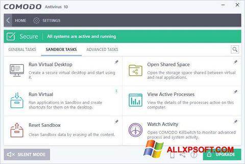 Skærmbillede Comodo Antivirus Windows XP