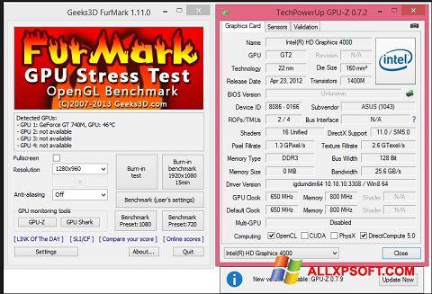 Skærmbillede FurMark Windows XP