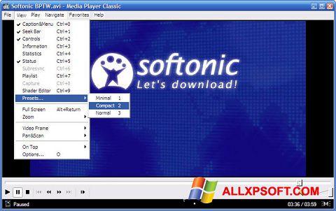 Skærmbillede Media Player Classic Windows XP