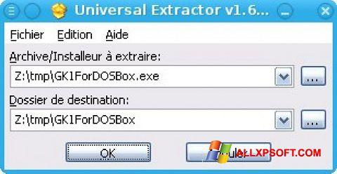 Skærmbillede Universal Extractor Windows XP