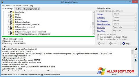 Skærmbillede AVZ Windows XP