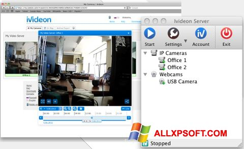 Skærmbillede Ivideon Server Windows XP