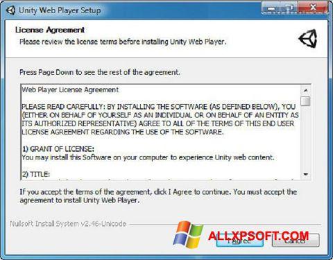 Skærmbillede Unity Web Player Windows XP
