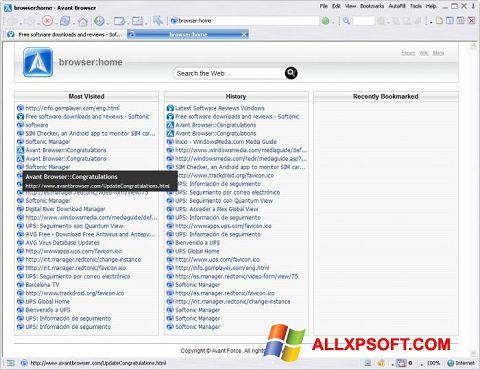 Skærmbillede Avant Browser Windows XP