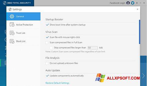 Skærmbillede 360 Total Security Windows XP