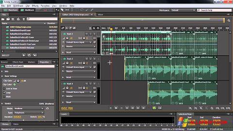 Skærmbillede Adobe Audition CC Windows XP