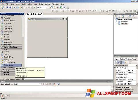 Skærmbillede Microsoft Visual Studio Windows XP