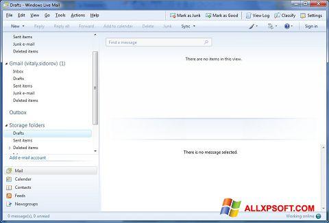 Skærmbillede Windows Live Mail Windows XP